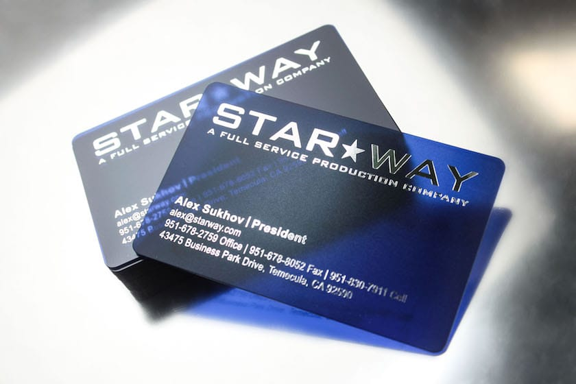 Clear plastic cards