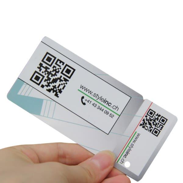 QR code plastic card