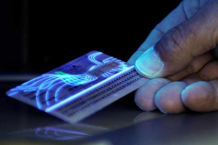 plastic card uv light printing,
