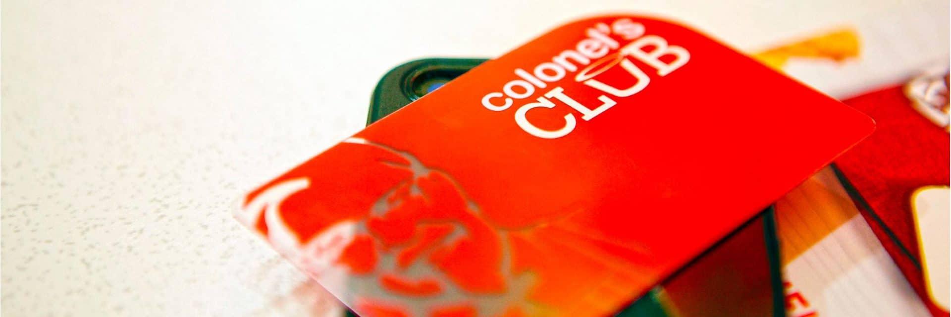 Plastic loyalty cards