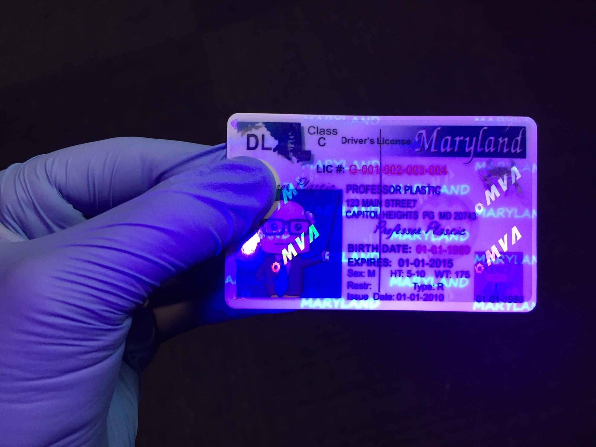 uv light detection card