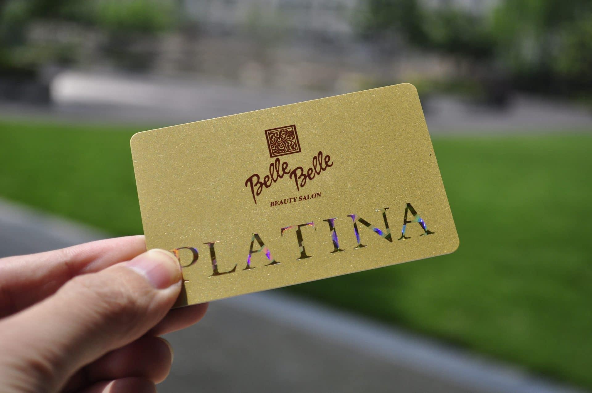 gold foil plastic card