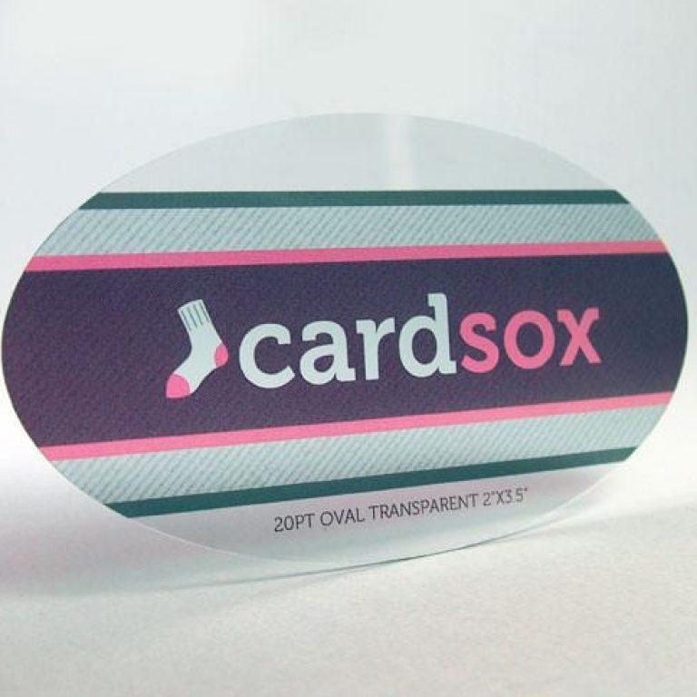 Custom shaped plastic cards