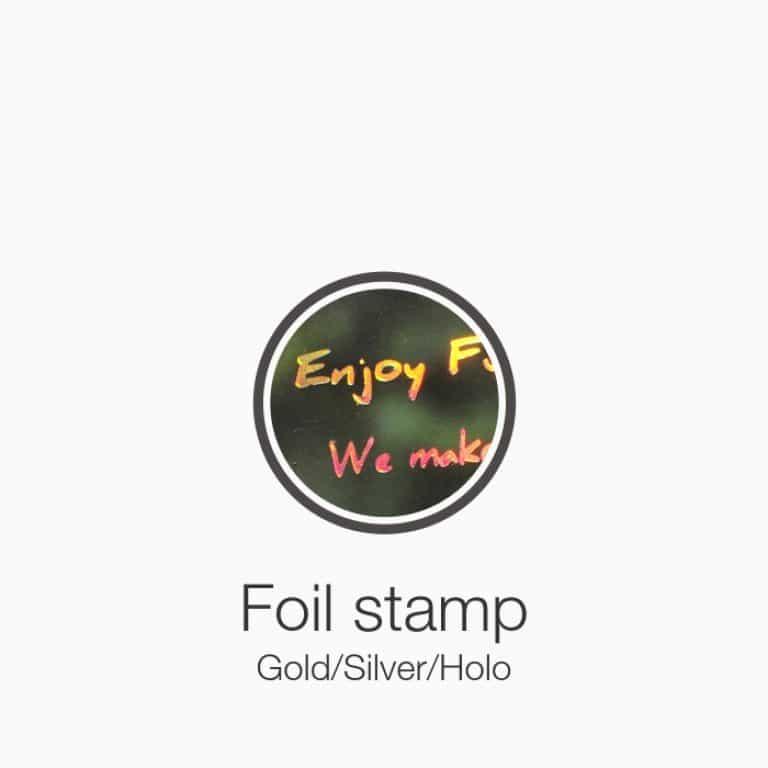 Plastic card foil stamp