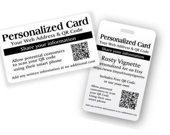 plastic cards with variable QR codes