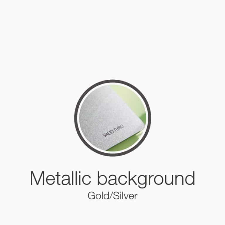 metallic stock plastic cards