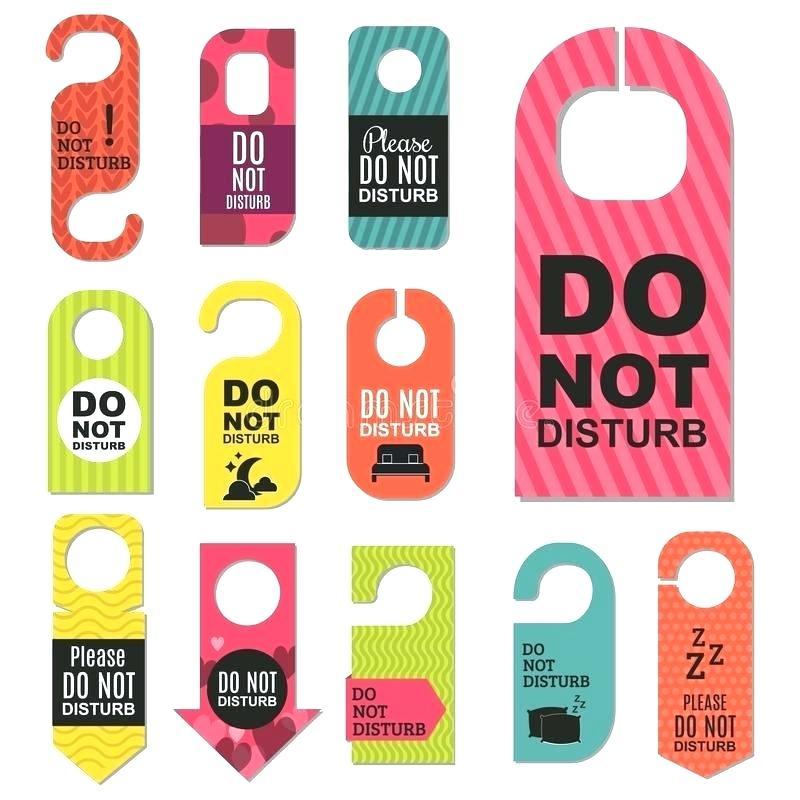 Plastic door hangers