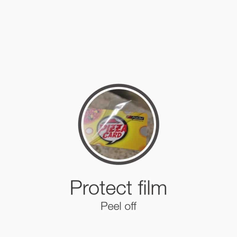 plastic card protect film