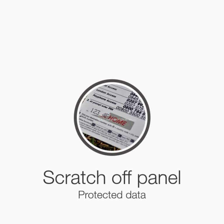 Plastic scratch card