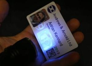 uv light ink plasticcards